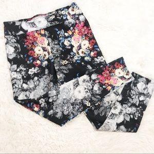 Abercrombie & Fitch Floral Yoga Pants
